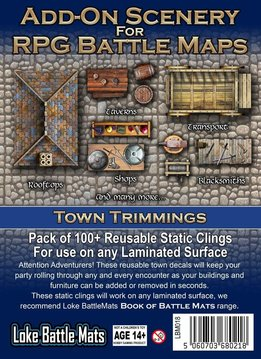 Add-On Scenery for RPG Battle Mats: Town Trimmings