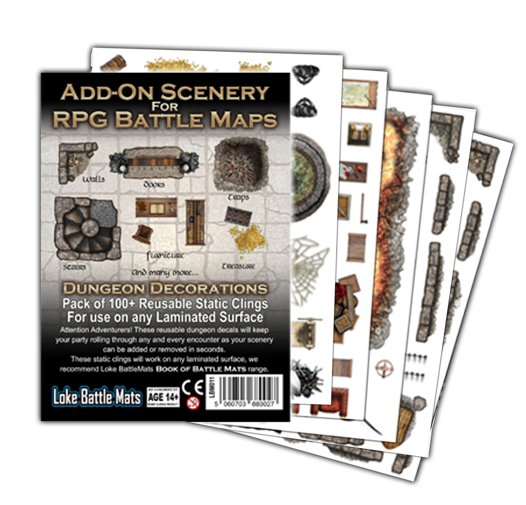 Add-On Scenery for RPG Battle Mats: Dungeon Decorations