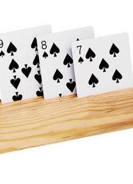 "Set of 2 Wooden Card Holders - 3 Slots 9"""
