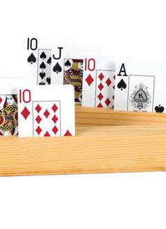 "Set of 2 Wooden Card Holders - 4 Slots 11"""