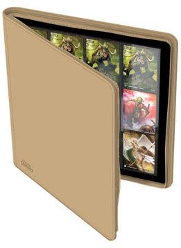 12-Pocket Quadrow Zipfolio XenoSkin Sand