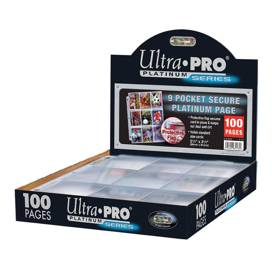 Ultra Pro 9-Pocket Secure Platinum Box (100ct)