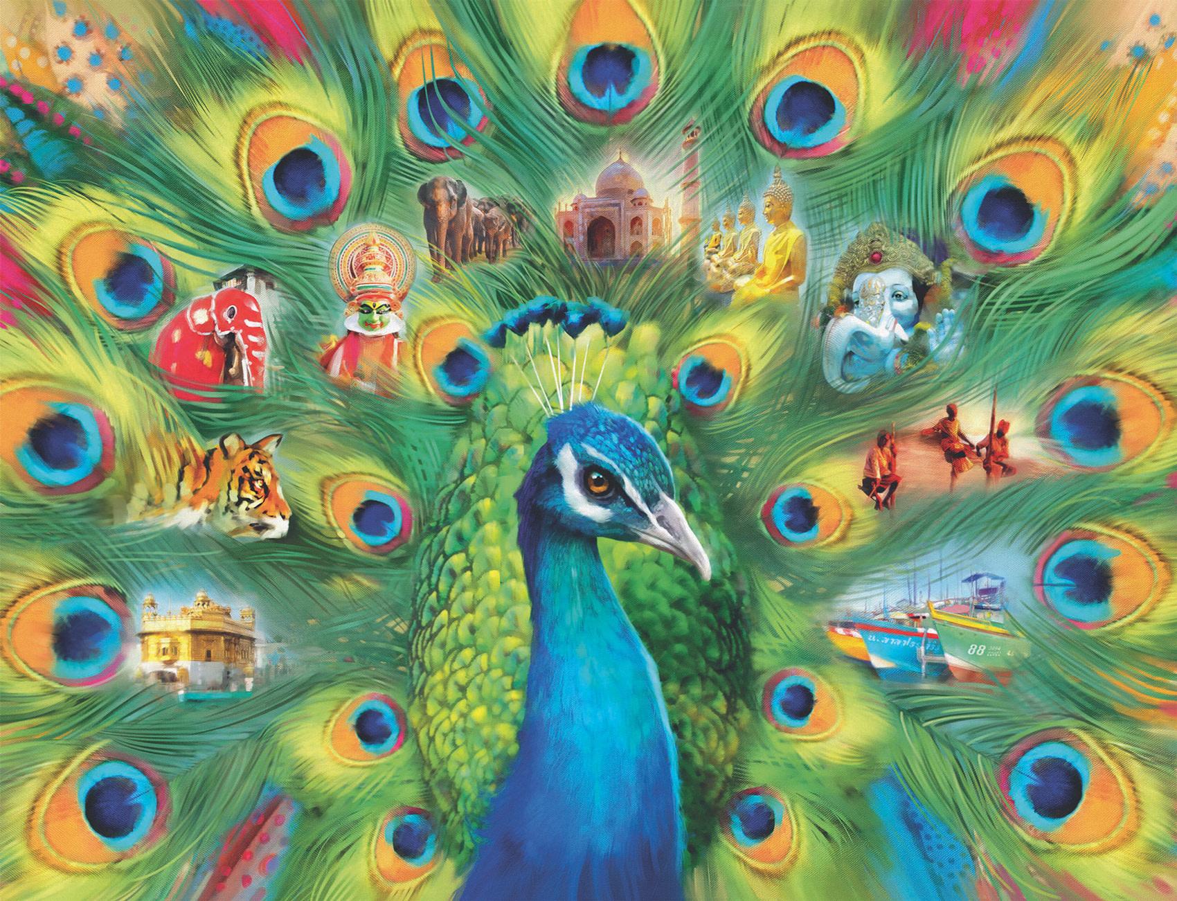 Casse-tête: Le pays du paon (2000pcs)