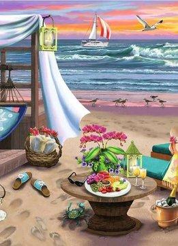 Casse-tête: Soirée sur la plage (500pcs Large)