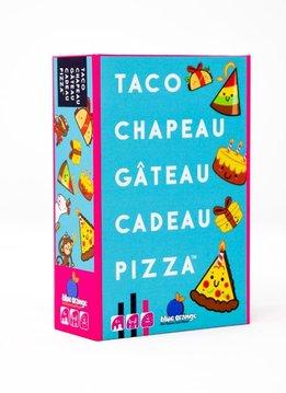 Taco, chapeau, gâteau, cadeau, pizza