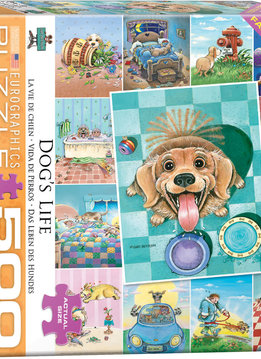 Puzzle: Dog's Life by Gary Patterson (500pcs Large)