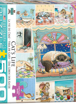 Puzzle: Cat's Life by Gary Patterson (500pcs Large)