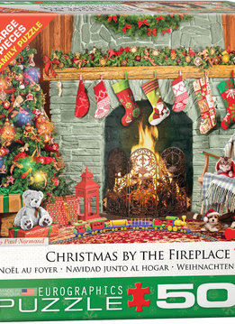 Puzzle: Christmas by the Fireplace (500pcs Large )