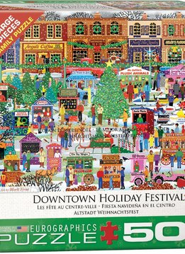 Puzzle: Downtown Holiday Festival (500pcs Large)