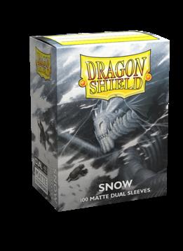 Dragon Shield Matte DUAL Snow (White) (100ct)
