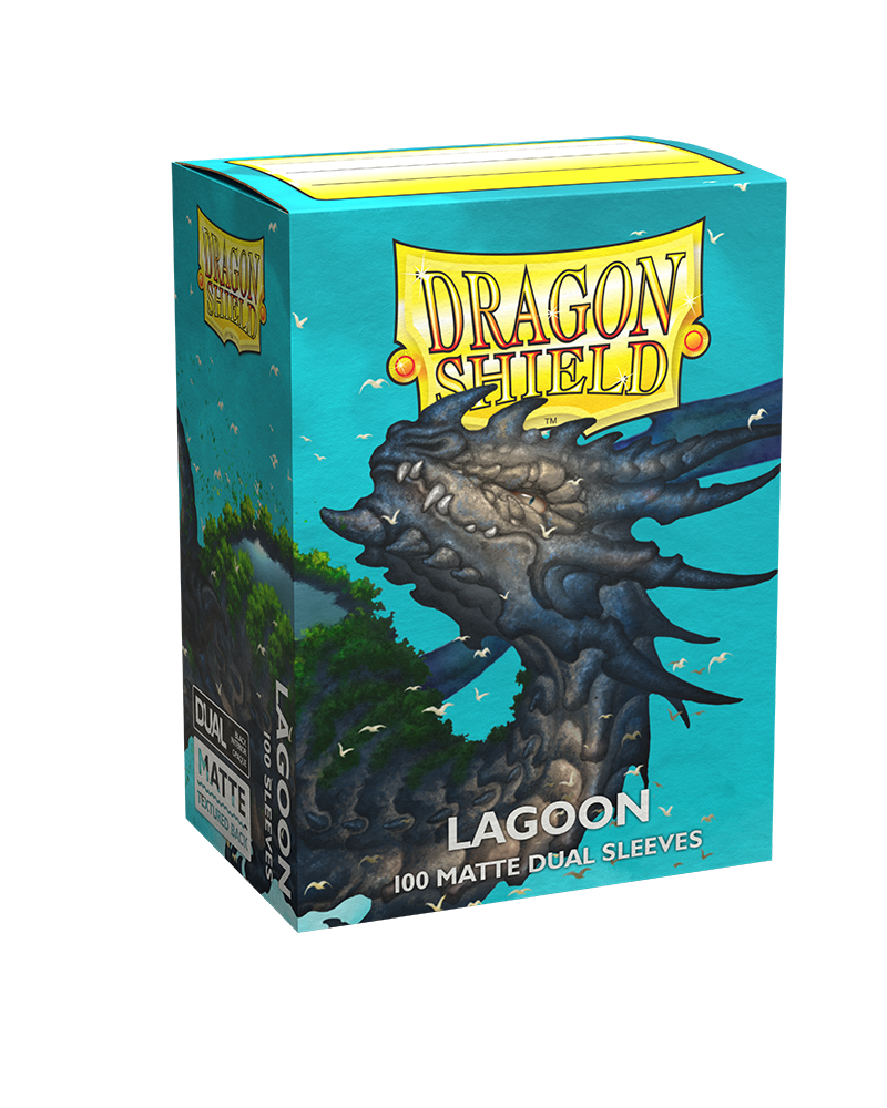 Dragon Shield Matte DUAL Lagoon (Blue) (100ct)