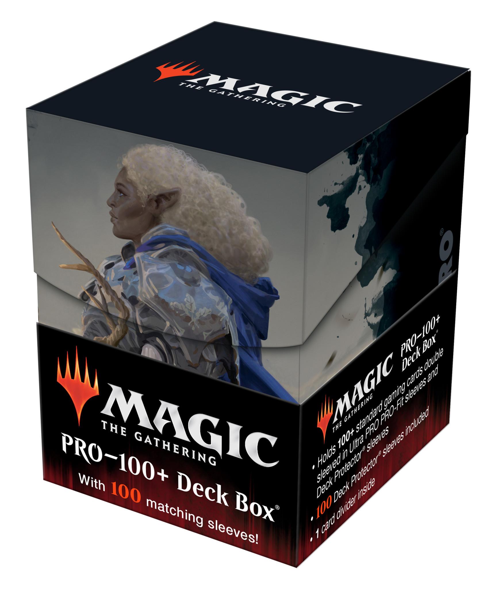 MTG AFR Commander Galea, Kindler of Hope 100+ Deck Box & 100ct Sleeves