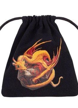 Dice Bag: Dragon (Black and Adorable)