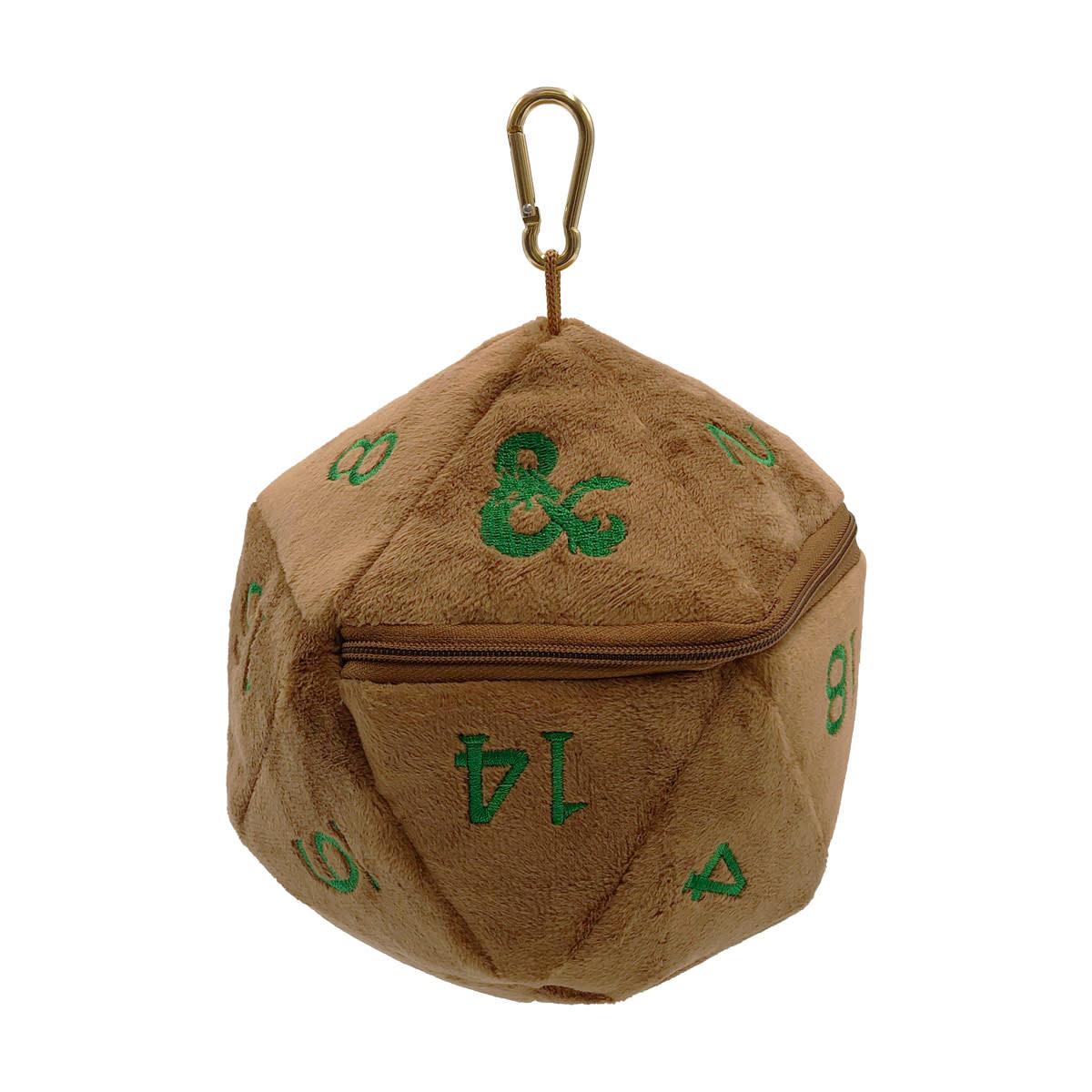 D&D Copper and Green D20 Plush Dice Bag