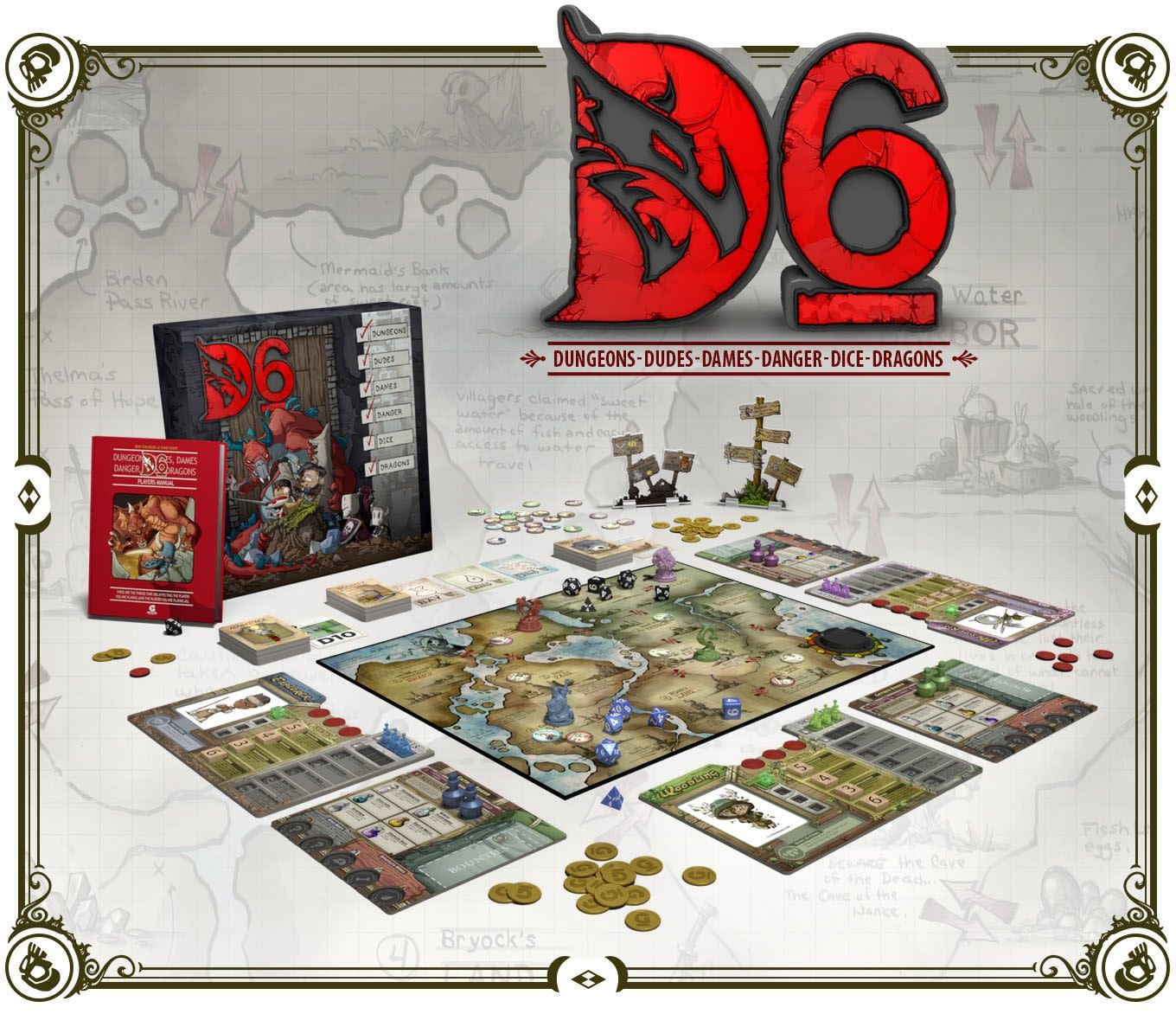 D6: Dungeons, Dudes, Dames, Danger, Dice and Dragons!
