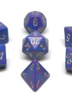 25347 Speckled Silver Tetra 7pc Dice Set