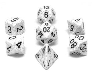 25311 Speckled Arctic Camo 7pc Dice Set