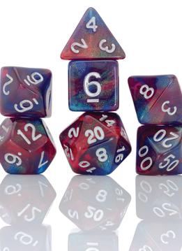7-Dice RPG Set Summer Berries Purple/Pink