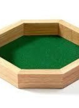 Wooden Dice Tray 10''