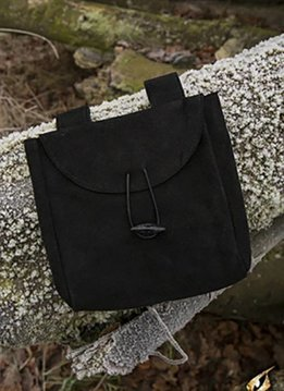 Thin Leather Bag - Black - Large