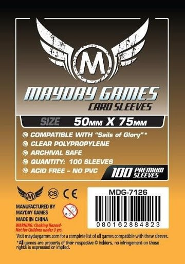 Standard Sails of Glory Sleeves 50mm x 75mm 100ct