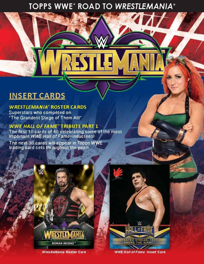 18 Topps WWE Road to Wrestlemania