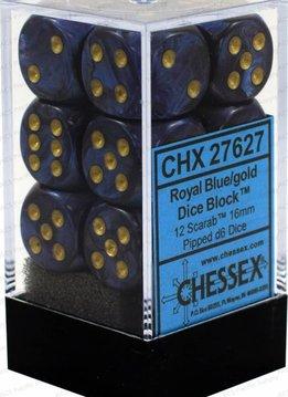 27627 Scarab 12d6 Royal Blue-Gold