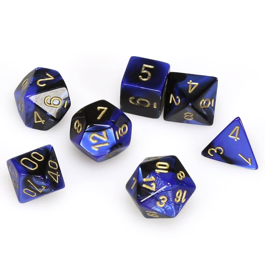 26435 Gemini Black-blue w/gold 7-die