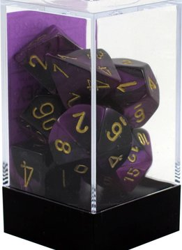 26440 - 7 die (Black-Purple/gold)