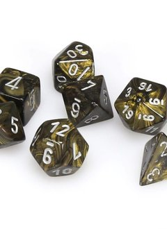 27418 leaf blackgold/silver poly