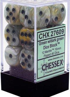 27609 Green w/dark green Marble