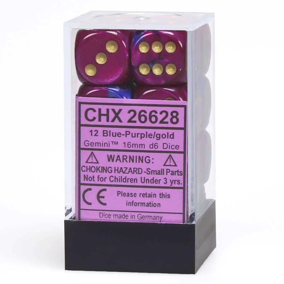 26628 Blue-Purple w/gold 12 d6
