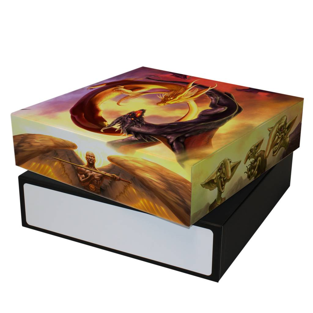 3 Row Gaming Card Box - Good vs. Evil