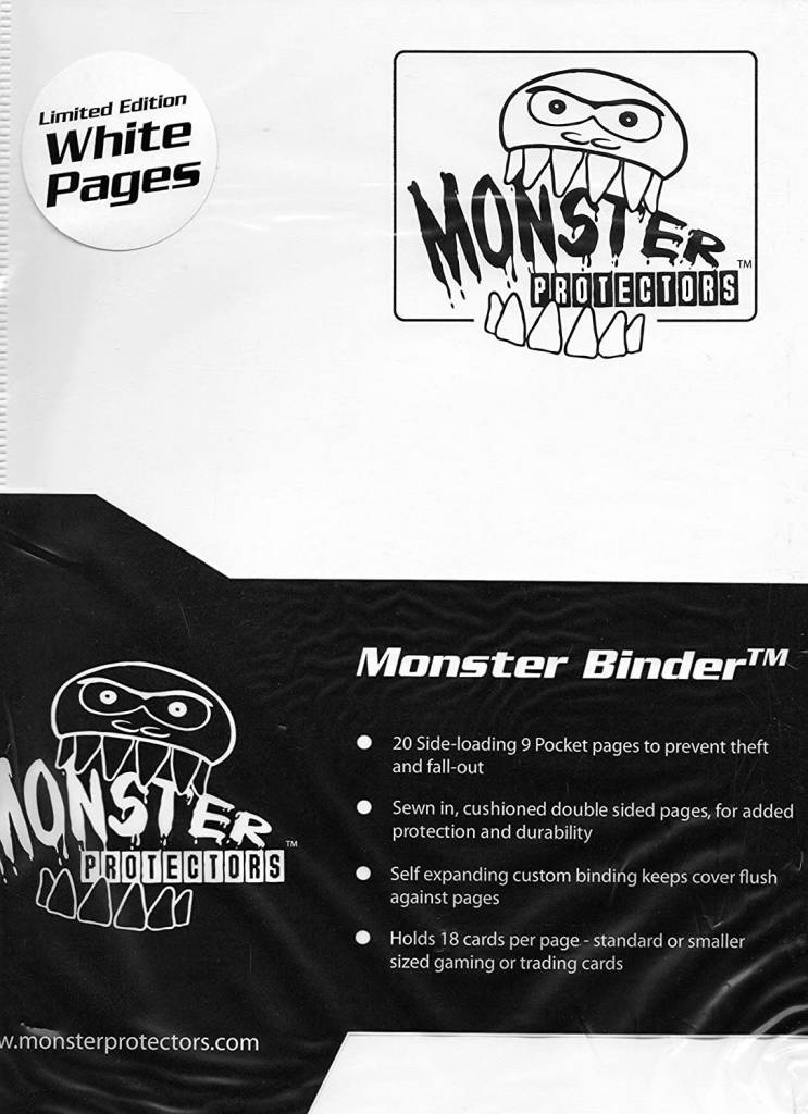 Monster Binder White Limited Edition White Pages