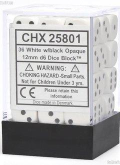 25801 OPAQUE 36D6 WHITE/BLACK