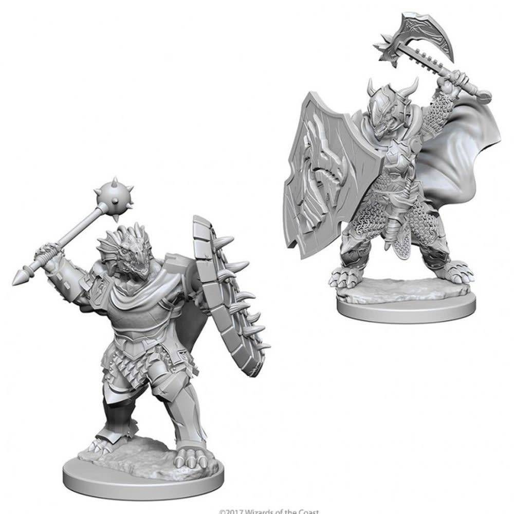 DND Unpainted Minis: Dragonborn Male Paladin