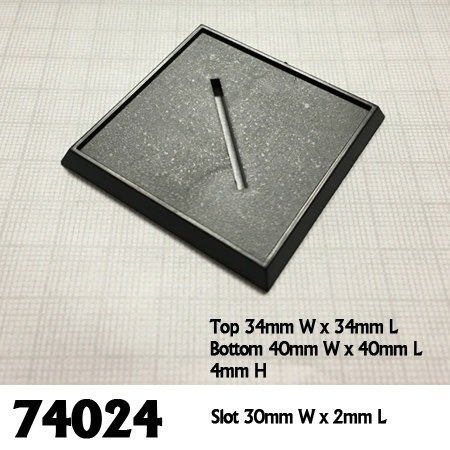 40mm Square Plastic Base (10)