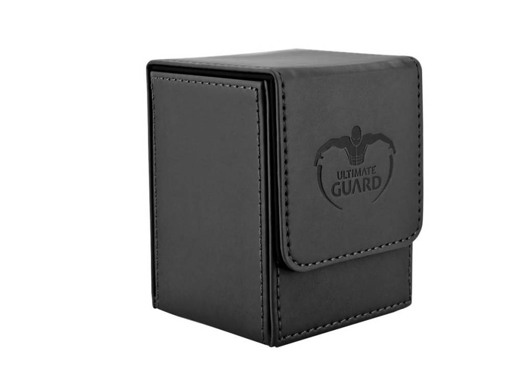 Flip Deck Case Leather Black 100