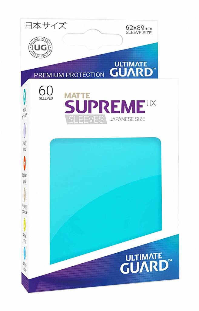 Sleeves - Supreme UX Japanese Matte Aquamarine 60ct