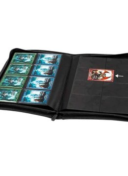 8-Pocket Quadrow Zipfolio Xeno Black