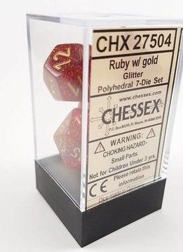 Glitter Ruby/Gold 7pc