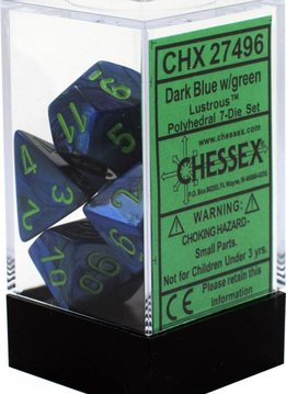 27496 7PC Lustrous Dark Blue w/Green
