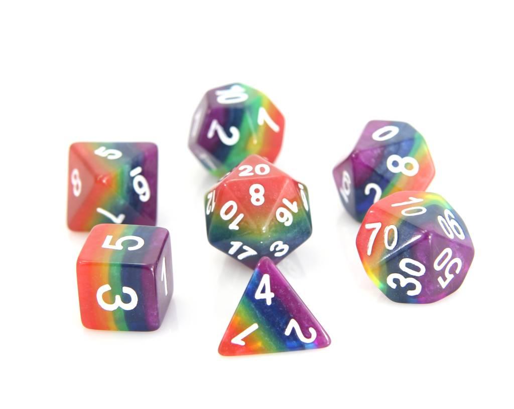 RPG 7 Dice Set - Rainbow