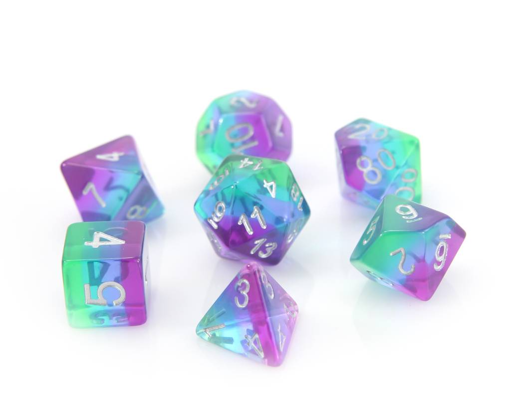 RPG 7 Dice Set - Translucent Sunset