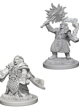 D&D Unpainted Minis: Dwarf Female Cleric