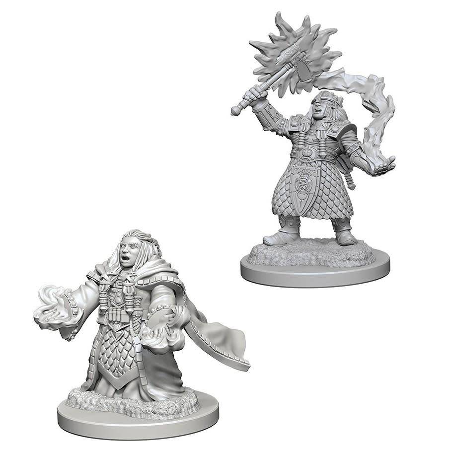 DND Unpainted Minis: Dwarf Female Cleric