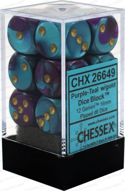 26649 12D6 Purple-Teal w/gold