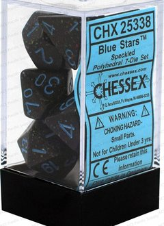 25338: blue star speckled 7 dice