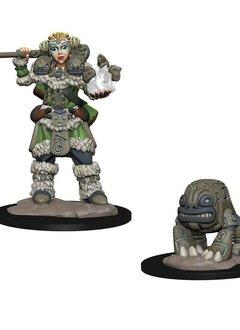 Girl Druid and Stone Creature Wardlings