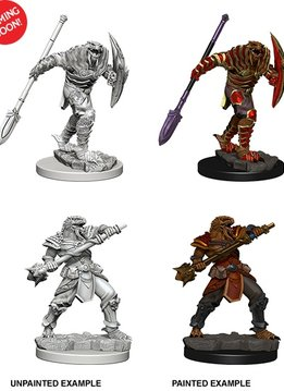 D&D Unpainted Minis: Dragonborn Male Fighter with Spear